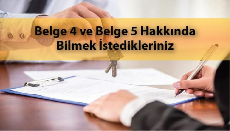 4. ve 5. Seviye Sorumlu Emlak Danışmanık Belgeleri